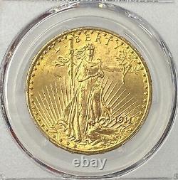 1911-D $20 Saint Gaudens Gold Double Eagle Pre-1933 PCGS MS65 Superb Gem Beauty