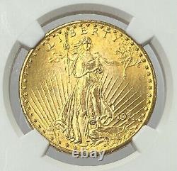 1911-D/D $20 Saint Gaudens Double Eagle Gold Pre-33 NGC MS66 Amazing Super Gem