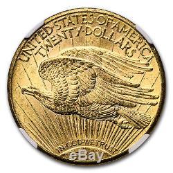 1911-D/D $20 Saint-Gaudens Gold Double Eagle MS-64 NGC