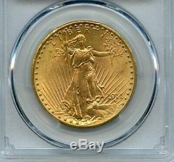 1911 D Twenty Dollar Saint-Gaudens $20 Double Eagle PCGS MS-65