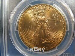 1911-S $20 GOLD St GAUDENS DOUBLE EAGLE PCGS MS 65 BRILLIANT MINT LUSTER