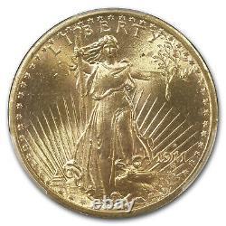 1911-S $20 Saint-Gaudens Gold Double Eagle MS-65+ PCGS CAC SKU#230689