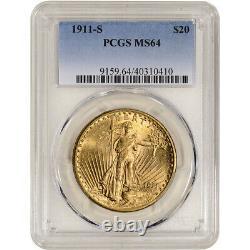 1911 S US Gold $20 Saint-Gaudens Double Eagle PCGS MS64