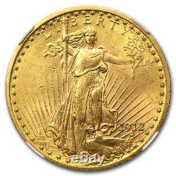 1912 $20 Saint-Gaudens Gold Double Eagle MS-62 NGC SKU#66494