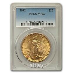 1912 $20 Saint-Gaudens Gold Double Eagle MS-62 PCGS SKU #55151