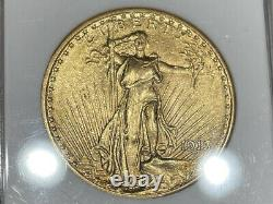 1913 ANACS MS61 $20 Gold Double Eagle Saint Gaudens