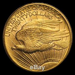 1913-D $20 Saint-Gaudens Gold Double Eagle AU SKU#192081