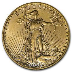 1913-D $20 Saint-Gaudens Gold Double Eagle MS-62 NGC SKU#91836