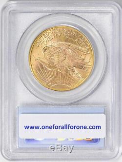 1914-D $20 Denver Gold GEM St Gaudens Double Eagle PCGS MS65 Exceptional Beauty