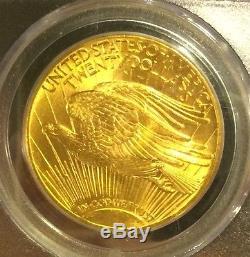 1914-D $20, PCGS MS64 ST GAUDENS DOUBLE EAGLE CERT V RARE, V PQ! 1,950 Graded