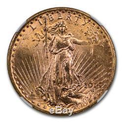1914-D $20 Saint-Gaudens Gold Double Eagle MS-65 NGC SKU#117461
