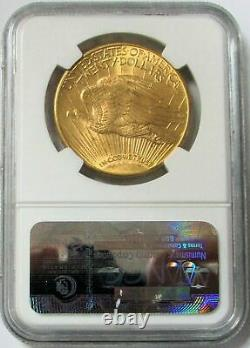 1914 D Gold $20 Saint Gaudens Double Eagle Coin Ngc Mint State 63