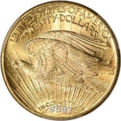 1914 D US Gold $20 Saint-Gaudens Double Eagle PCGS MS64