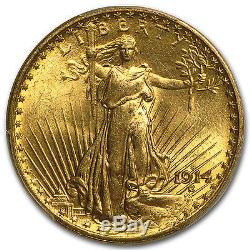 1914-S $20 Saint-Gaudens Gold Double Eagle MS-65 PCGS SKU #23958