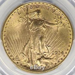 1914-S $20 Saint Gaudens Gold Double Eagle PCGS MS65