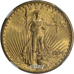 1914-S US Gold $20 Saint-Gaudens Double Eagle NGC MS63