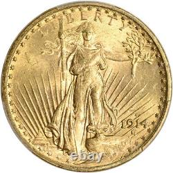 1914 S US Gold $20 Saint-Gaudens Double Eagle PCGS MS63
