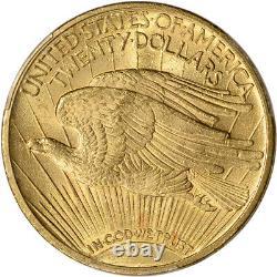 1914 US Gold $20 Saint-Gaudens Double Eagle PCGS MS62