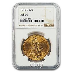 1915-S $20 Saint-Gaudens Gold Double Eagle MS-64 NGC SKU#1570