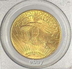 1915-S $20 Saint Gaudens Pre-33 Gold Double Eagle PCGS MS65 Blazing Orange GEM