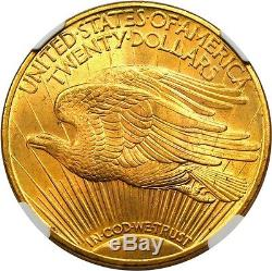 1920 $20 NGC MS65+ Finest Known! Saint Gaudens Double Eagle Gold Coin