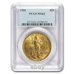 1920 $20 Saint-Gaudens Gold Double Eagle MS-62 PCGS SKU #41101