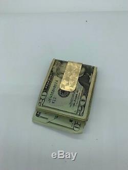 1920 Saint Gaudens $20 Gold Coin Double Eagle 14k Y/Gold Rolling Money Clip 65 g
