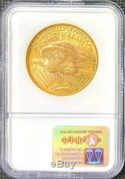 1922 $20 American Gold Double Eagle Saint Gaudens MS62 NGC LUSTROUS Coin
