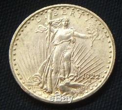 1922$20 Dollar Gold St. Gaudens Double Eaglebeauty