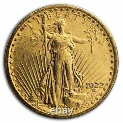 1922 $20 Saint-Gaudens Gold Double Eagle AU SKU#14709