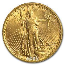 1922 $20 Saint-Gaudens Gold Double Eagle MS-62 PCGS SKU #1578