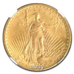 1922 $20 Saint-Gaudens Gold Double Eagle MS-63 NGC SKU#10258