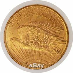 1922 $20 St Gaudens Double Eagle Gold NGC MS62 Uncirculated Coin