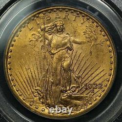1922 $20 Twenty Dollar Gold Double Eagle St. Gaudens PCGS MS 63