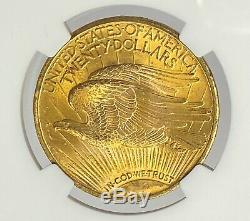 1922-P $20 Saint Gaudens Pre-33 Gold Double Eagle NGC MS65 A Must Own Gem PQ++