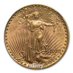 1922-S $20 St. Gaudens Gold Double Eagle MS-62 NGC SKU#149605