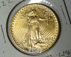 1922 Saint-Gaudens $20 Gold Double Eagle Philadelphia Mint Pre-1933 Gold Coin