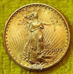 1922 Saint Gaudens Double Eagle Gold Coin! . 9675 $20.00 Gold Coin! 1907-1933