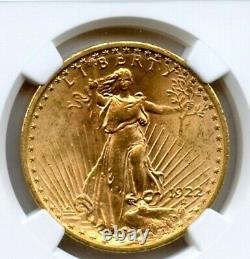 1922 Twenty Dollar $20 Saint Gaudens Double Eagle NGC MS 63