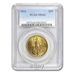 1923 $20 Saint-Gaudens Gold Double Eagle MS-64 PCGS SKU #23102