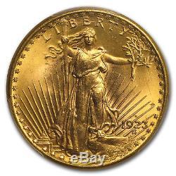 1923-D $20 Saint-Gaudens Gold Double Eagle MS-64+ PCGS SKU#172414