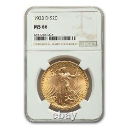 1923-D $20 Saint-Gaudens Gold Double Eagle MS-66 NGC SKU#153632