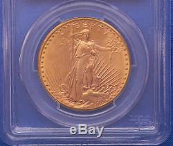 1923-D $20 St. Gaudens Double Eagle Gold Coin PCGS MS 65 Flashy