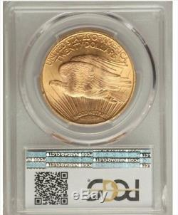1923 Saint Gaudens Gold $20 Double Eagle Pcgs Ms 64 + Plus