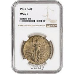 1923 US Gold $20 Saint-Gaudens Double Eagle NGC MS63