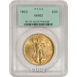 1923 US Gold $20 Saint-Gaudens Double Eagle PCGS MS62