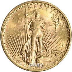 1923 US Gold $20 Saint-Gaudens Double Eagle PCGS MS64