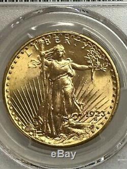 1923-d $20 Saint Gaudens Gold Double Eagle PCGS MS64 Beautiful! 37926249
