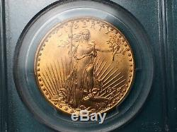 1924 $20 Gold Saint Gaudens Double Eagle Coin MS64 PCGS +CAC