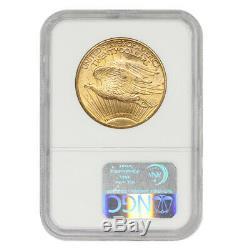 1924 $20 Gold Saint Gaudens NGC MS65 Gem Certified Philadelphia Double Eagle